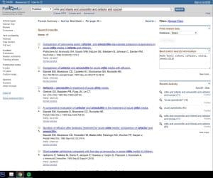 Simple search using Pubmed