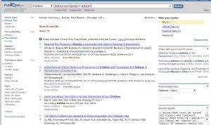 búsqueda con filtros en pubmed